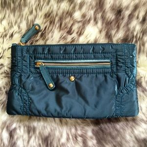 Authentic Tod's Quilted Leather-Trimmed Pouch